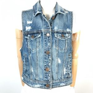 AE denim jacket vest
